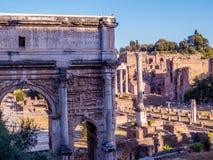 论坛意大利罗马罗马 免版税库存照片