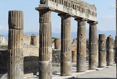 论坛罗马的庞贝城 库存图片