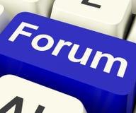 论坛钥匙对于社会媒介公共或信息 库存图片