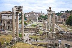 论坛,罗马意大利废墟 库存图片