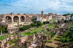 论坛Romanum在罗马在意大利 库存图片