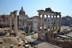 论坛Romanum在罗马,意大利 免版税库存照片