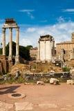 论坛Romanum,罗马,意大利在热夏天 库存照片