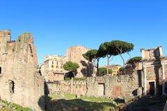 论坛trajan的罗马 库存图片