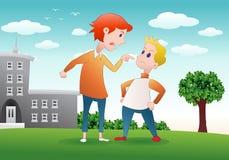 论据在学校 免版税库存照片