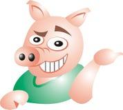 讽刺的猪 库存例证