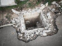 建设中地下流失 免版税库存图片