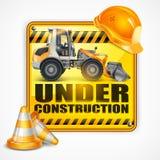 建设中标志正方形 皇族释放例证