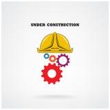 建设中概念性背景 横幅的设计, pos 免版税图库摄影