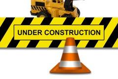建设中牌 免版税库存图片