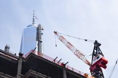 建设中的世界贸易中心,社论 免版税库存照片