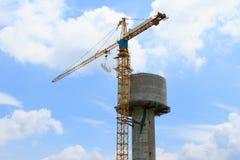 建设中的储水箱 免版税库存照片