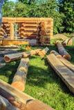 建设中的木屋 图库摄影