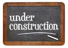 建设中黑板标志 免版税图库摄影