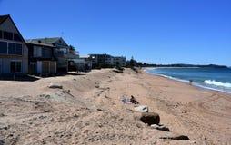 建设中仍然议院Collaroy海滩的 库存照片