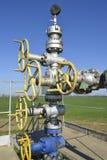 设备和技术在油田 油井 免版税库存图片