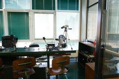 设备和特别设备质量的在无线电演播室运转 免版税库存照片