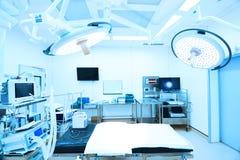 设备和医疗设备在现代手术室 免版税库存照片
