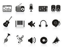 设备图标音乐声音 免版税库存图片