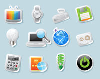 设备图标贴纸技术 免版税图库摄影