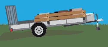 设备或公共事业拖车 库存照片