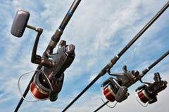设备捕鱼 免版税库存图片