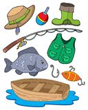 设备捕鱼 向量例证