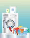 设备洗涤物 向量例证