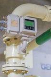 设备测量流体流程  免版税库存图片