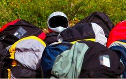 设备滑翔伞 免版税库存图片