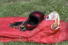 设备滑翔伞 库存照片