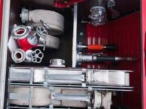 设备火抢救卡车 库存图片