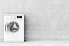 设备现代洗涤物 3d翻译 免版税图库摄影