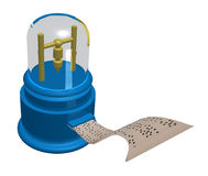 设备磁带断续装置 皇族释放例证