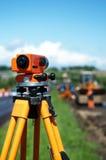 设备级别测量员经纬仪 库存照片