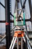 设备级别测量员经纬仪 免版税图库摄影