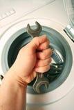 设备维护洗涤物 免版税库存图片