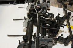 设备被打印的报纸抵销 免版税库存照片