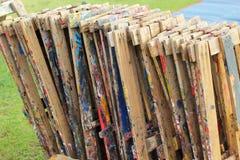 设备绘画在公园 免版税库存图片