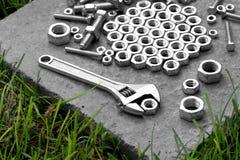 设备fow扳手工具工作 免版税库存图片