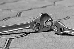 设备fow扳手工具工作 图库摄影