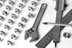 设备fow扳手工具工作 库存照片