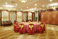 设宴中国大厅 图库摄影