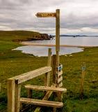 设得兰群岛小径访问途径 库存图片