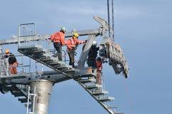 设施缆索铁路对西奈山在罗马尼亚 免版税图库摄影