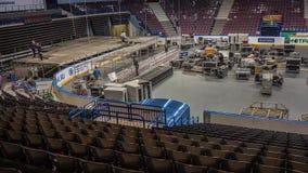 设施阶段和设备在音乐会前 时间间隔 股票视频