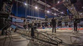 设施阶段和设备在音乐会前 时间间隔 影视素材
