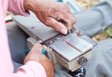 设置一块电刮板 免版税图库摄影