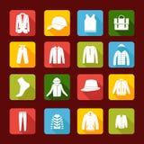 设置与人衣物-例证的汇集 免版税图库摄影