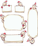设置与公羊的横幅新年的 库存照片
